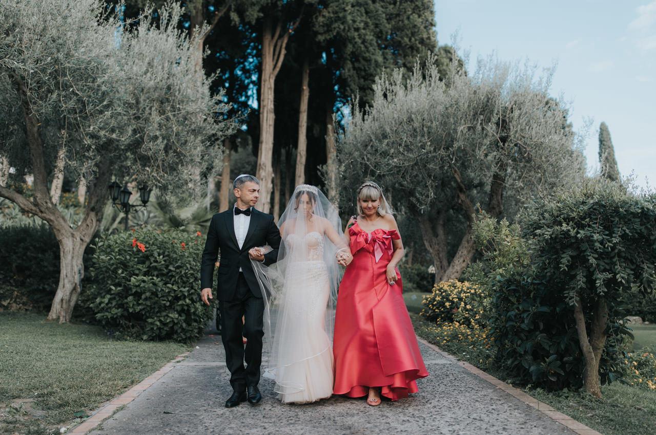Jewish Wedding In Grand Hotel Timeo